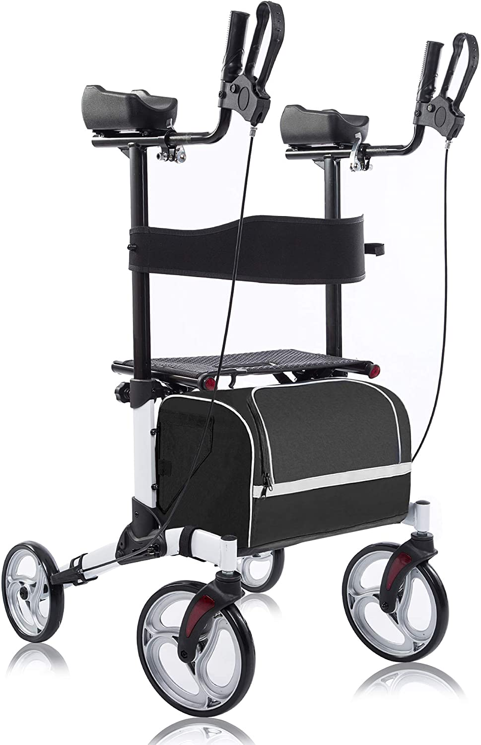 Review of BEYOUR WALKER's Upright Rollator Walker with 10A Front Wheels