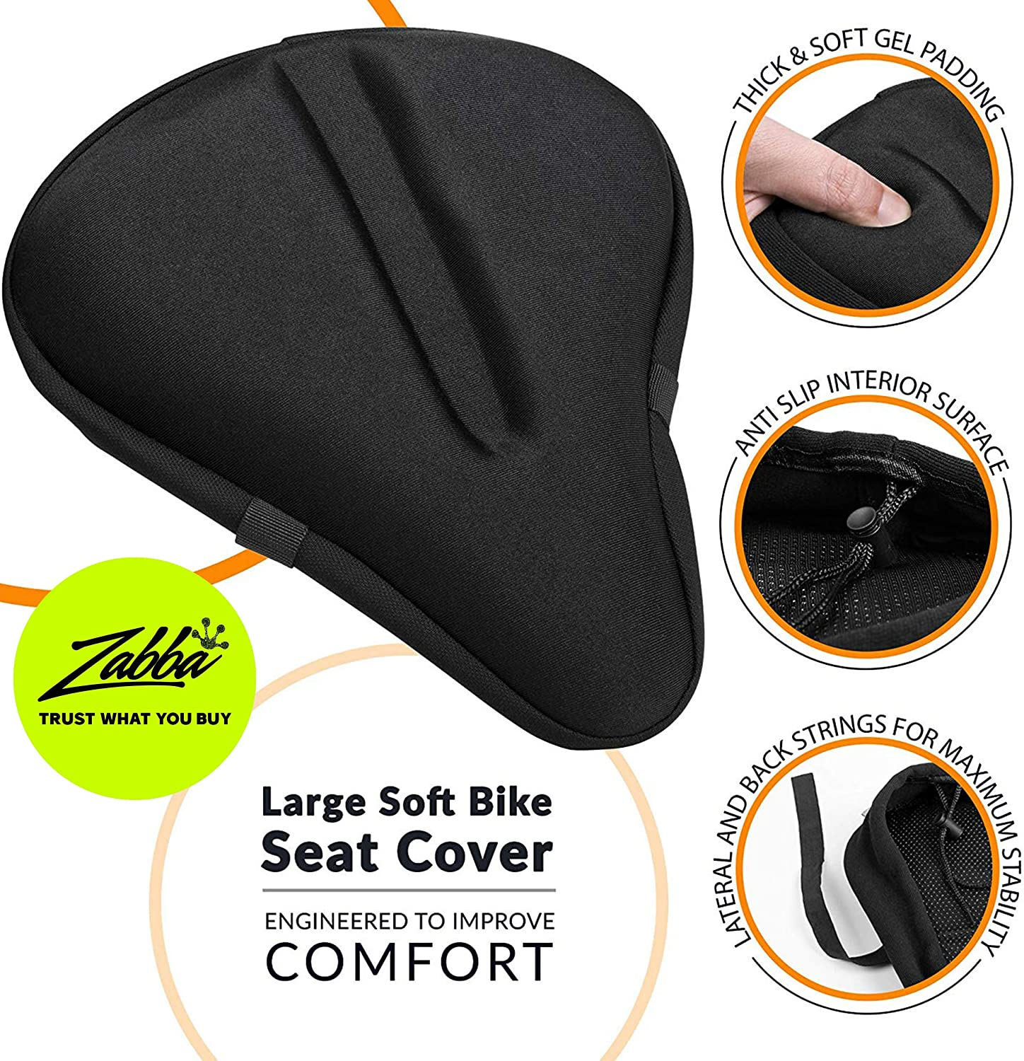 Review of Bikeroo Large Bike Seat Cushion - (11 inches x 10 inches) Wide Gel Soft Pad