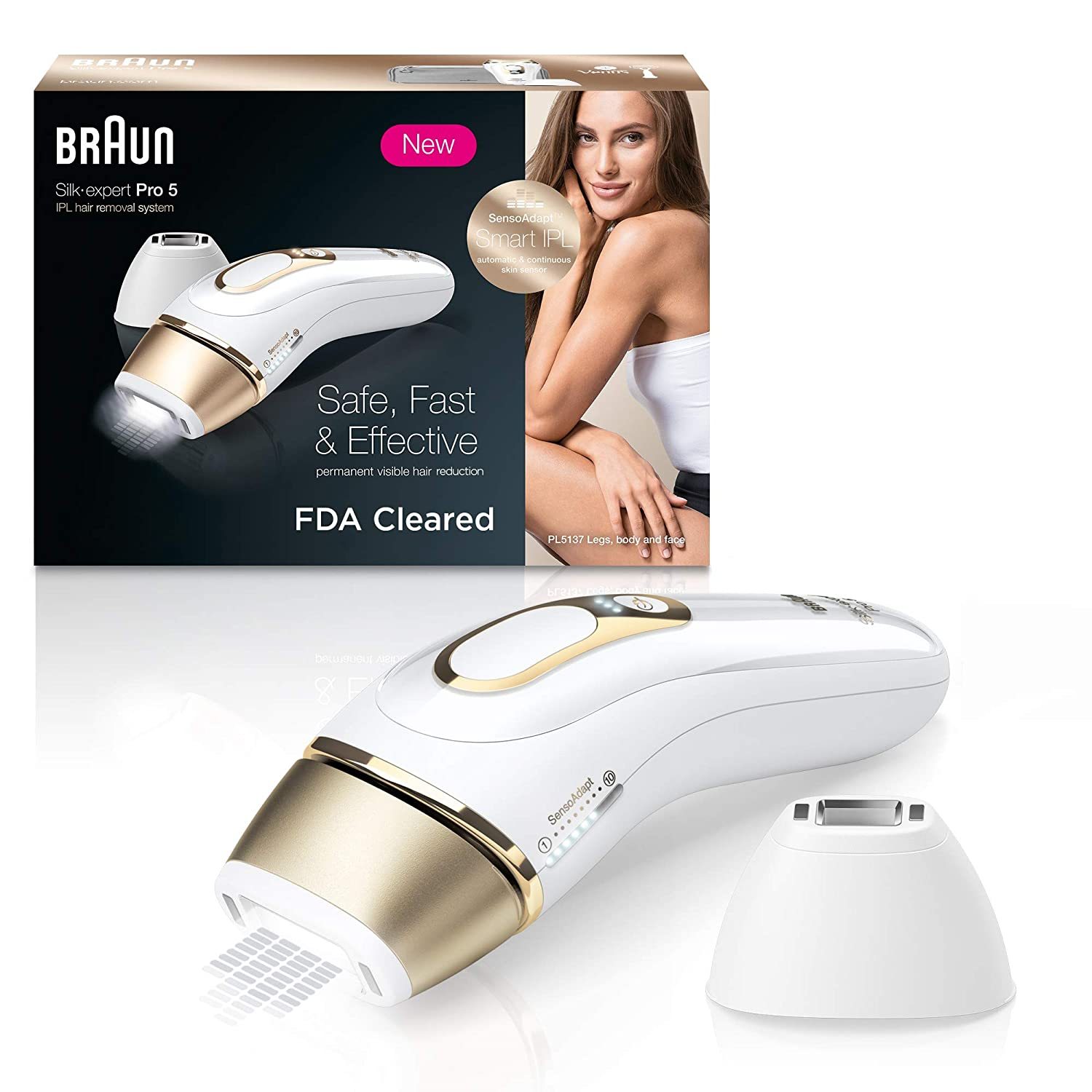 Review of Braun IPL Hair Removal for Women, Silk Expert Pro 5 PL5137