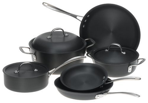 Review of Calphalon DS9DC Commercial 9-Piece Hard-Anodized Cookware Set