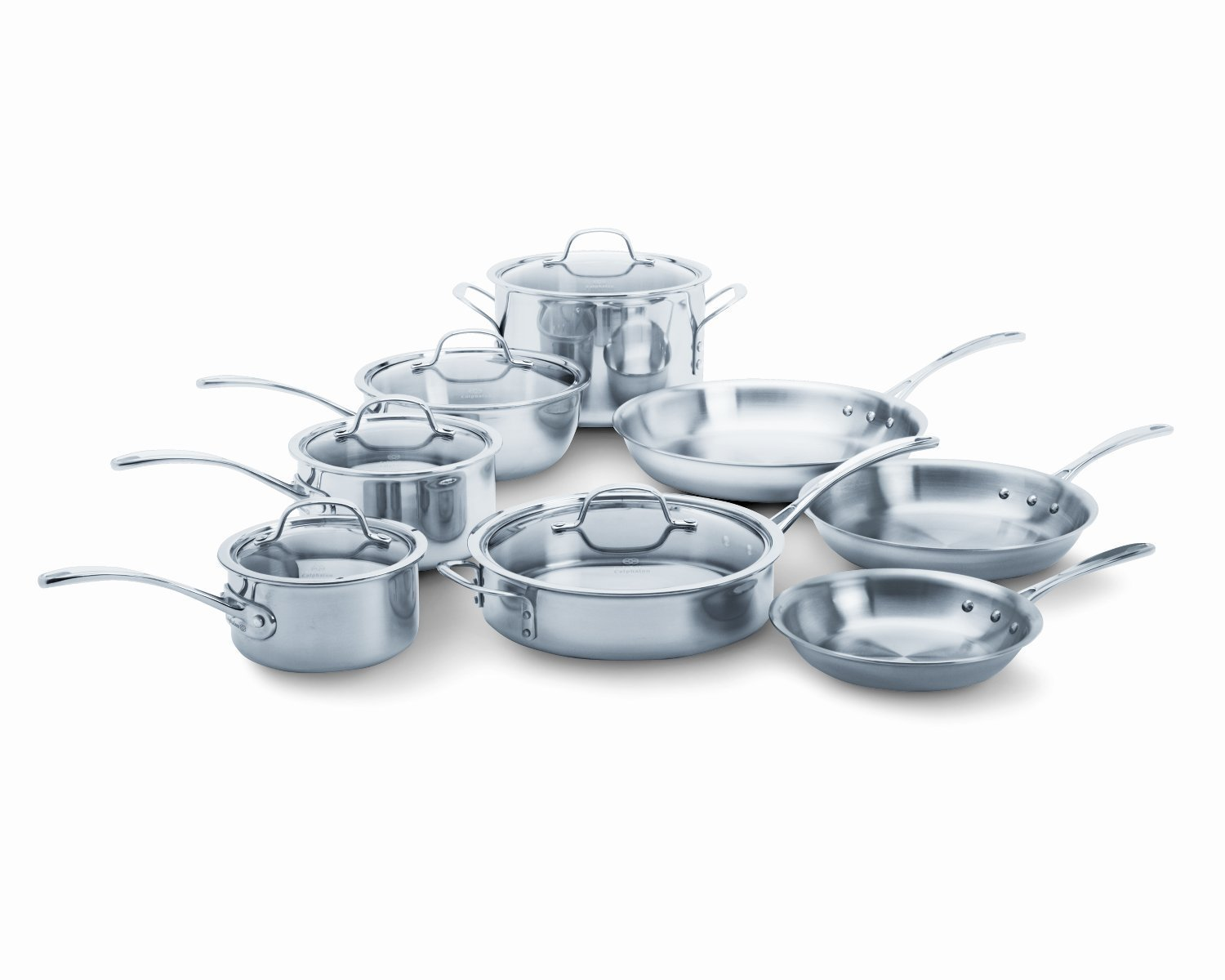 Review of Calphalon Tri-Ply Stainless Steel 13-Piece Cookware Set