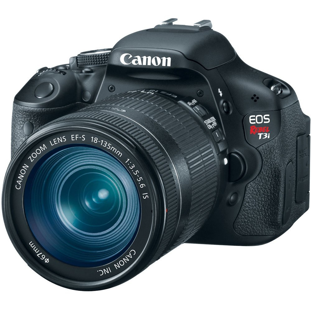 Canon EOS Rebel T3i 18 MP CMOS Digital SLR Camera with EF-S 18-55mm f/3.5-5.6 IS Lens - Reviews of Top 15 Mother's Day Gift Ideas for Active and Outdoorsy Moms