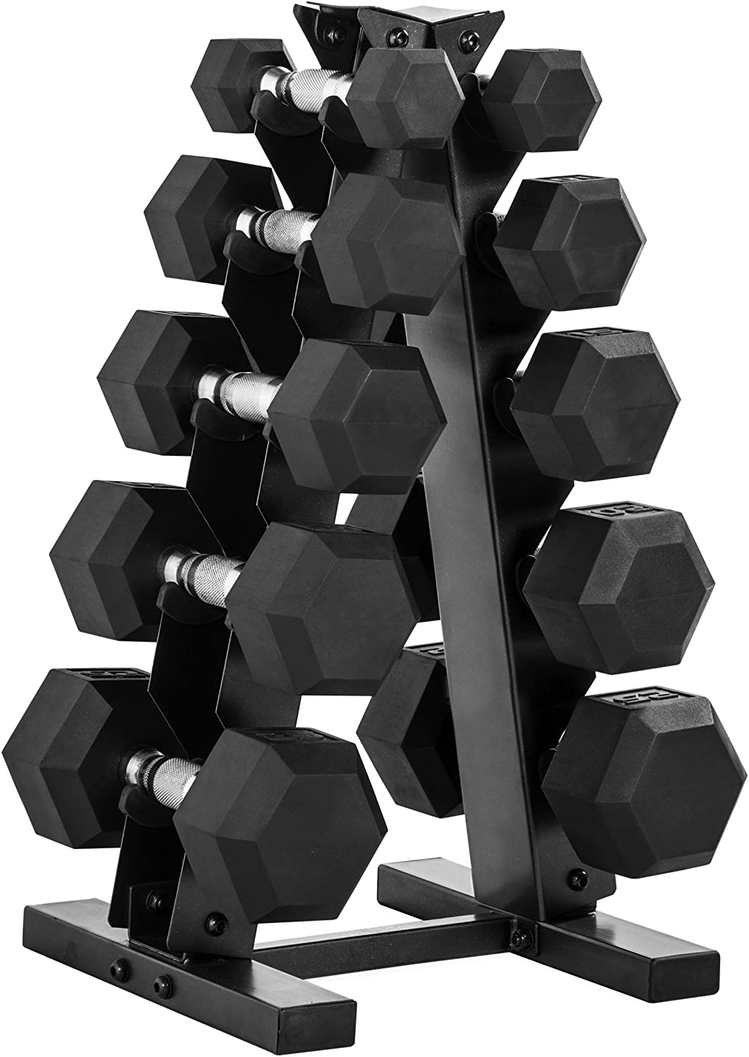 Review of CAP Barbell 150-Pound Dumbbell Set with Rack