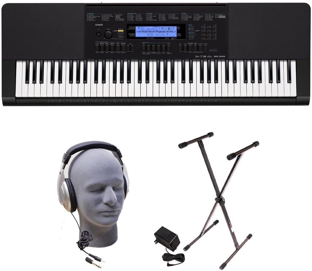 Review of Casio WK-245 PPK 76-Key Premium Portable Keyboard Package with Headphones