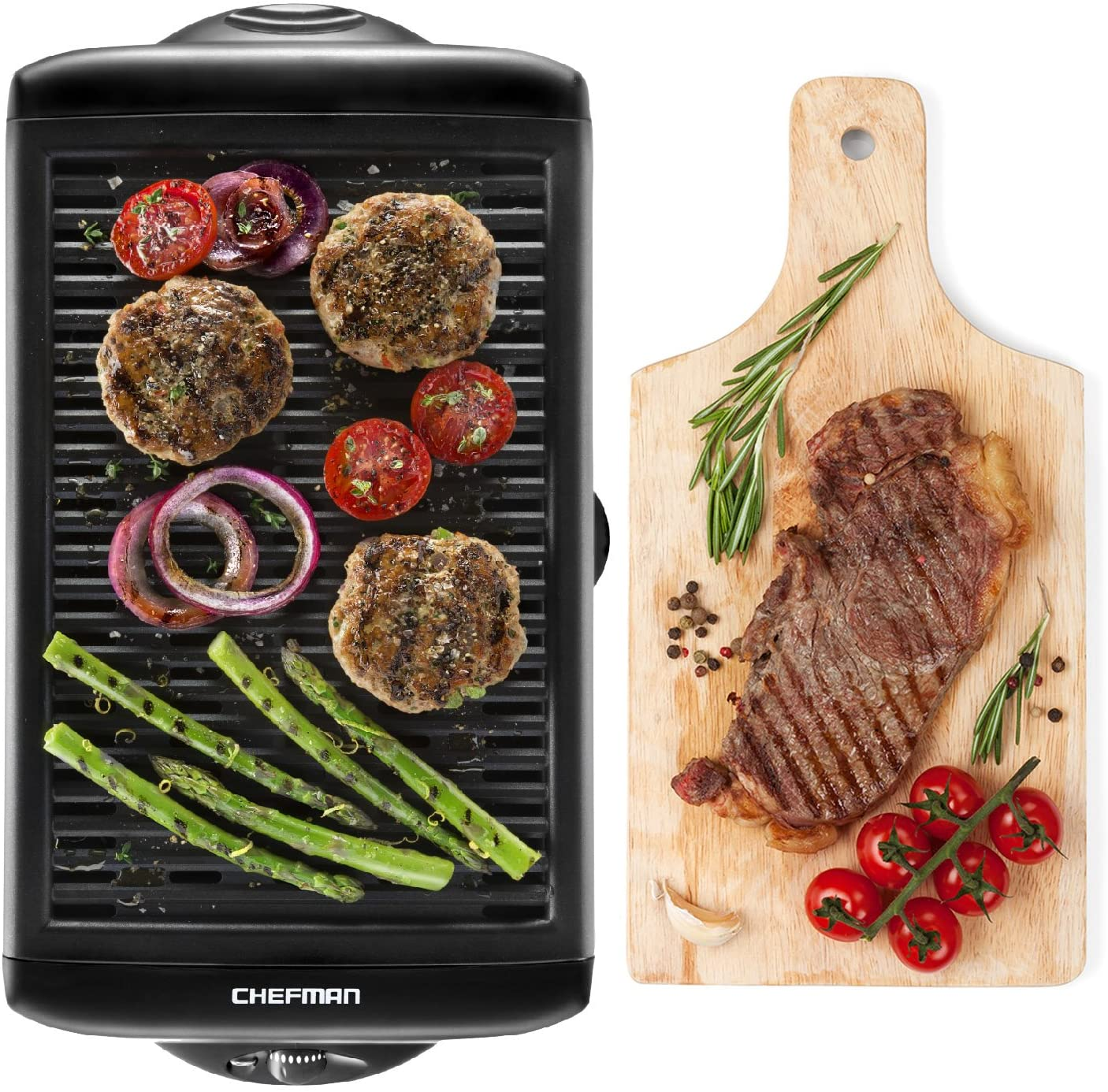 Review of Chefman Electric Smokeless Indoor Grill w/ Non-Stick Cooking Surface