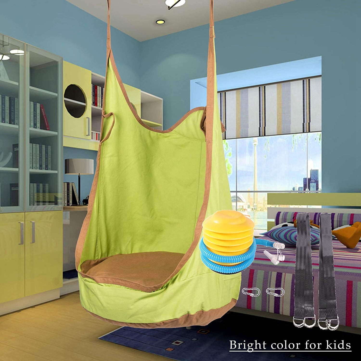 Review of CO-Z Kids Pod Swing Seat Child Hanging Hammock Chair