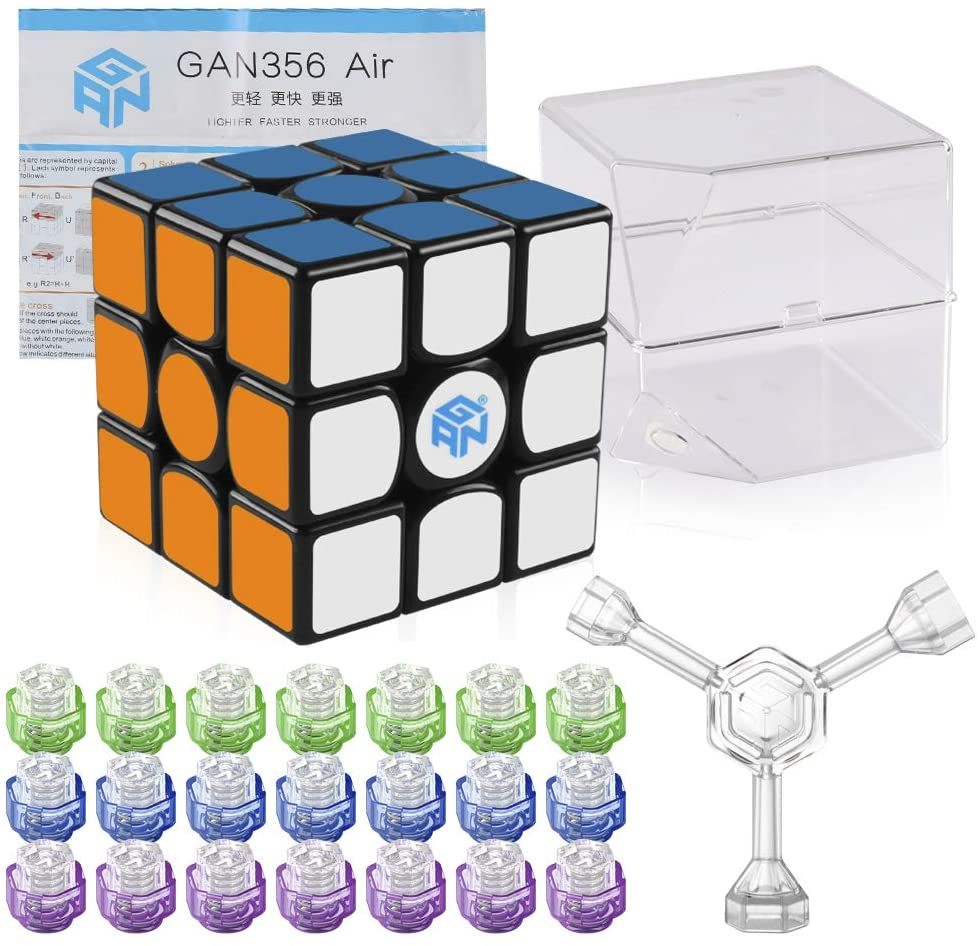 Review of Coogam Gan 356 Air Master Speed Cube 3x3 Black Gans 356 Air Puzzle Cube with IPG V5 (Master Version)