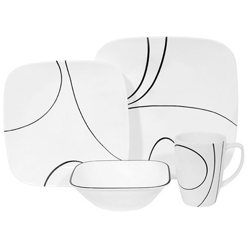Review of Corelle Square 16-Piece Dinnerware Set, Service for 4