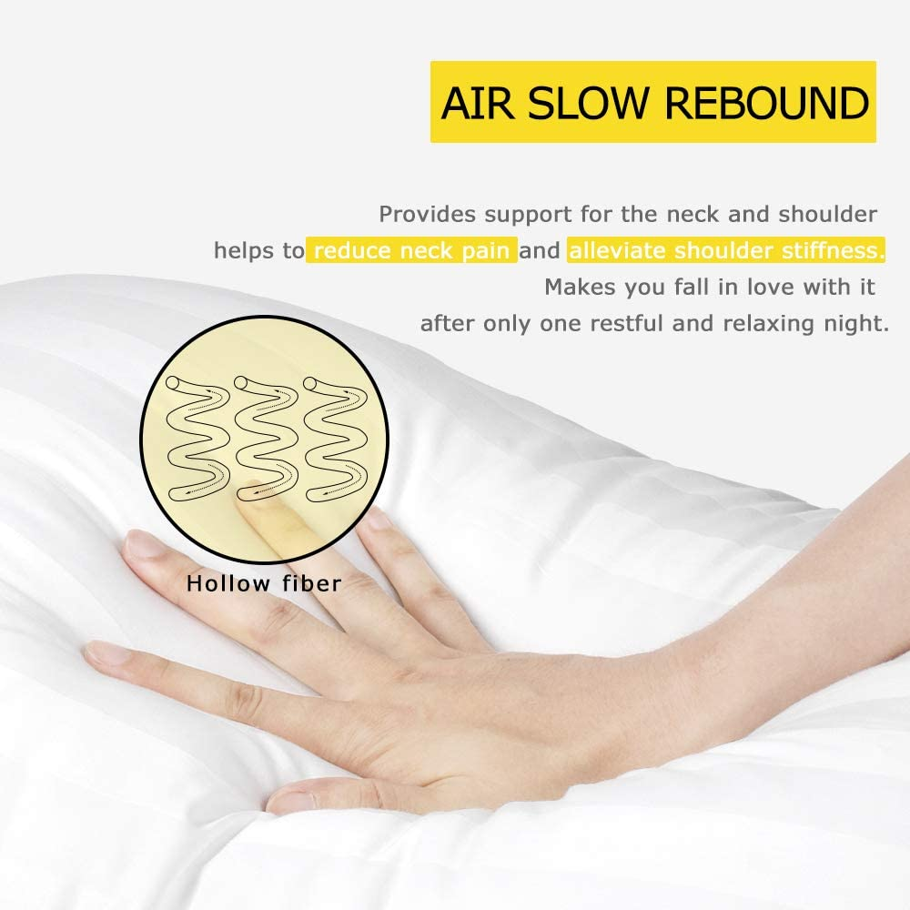 Review of COZSINOOR Hotel Collection Luxury Pillows  (2-Pack)