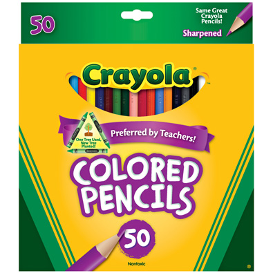 Review of Crayola Long Colored Pencils - 24ct and 50ct