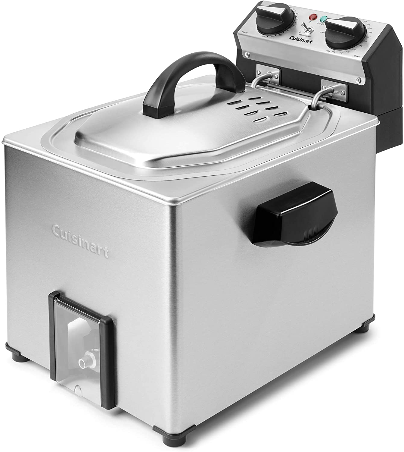 Review of Cuisinart CDF-500 Extra-Large Rotisserie Deep Fryer, Silver