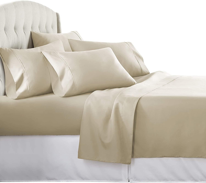 Danjor 6 Piece Hotel Luxury Soft 1800 Series Premium Bed Sheets Set, Deep Pockets, Hypoallergenic, Wrinkle & Fade Resistant Bedding Set