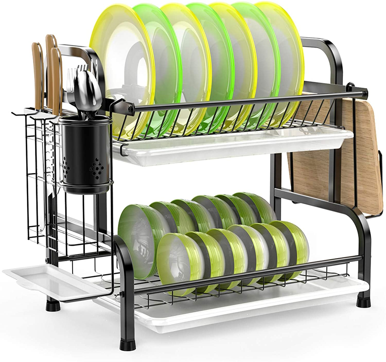 Review of Dish Drying Rack, iSPECLE 304 Stainless Steel 2-Tier Dish Rack