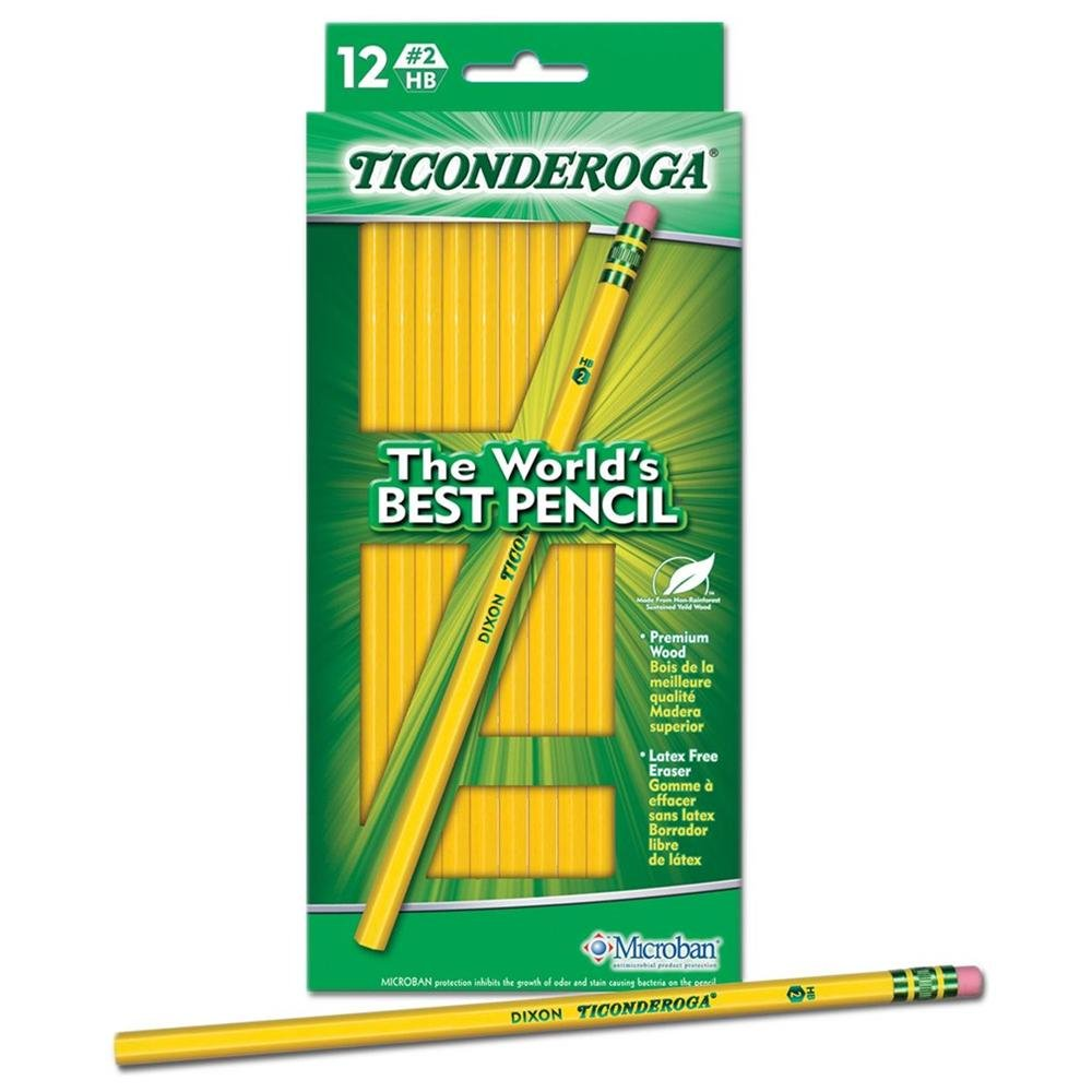 Dixon Ticonderoga Wood-Cased #2 Pencils