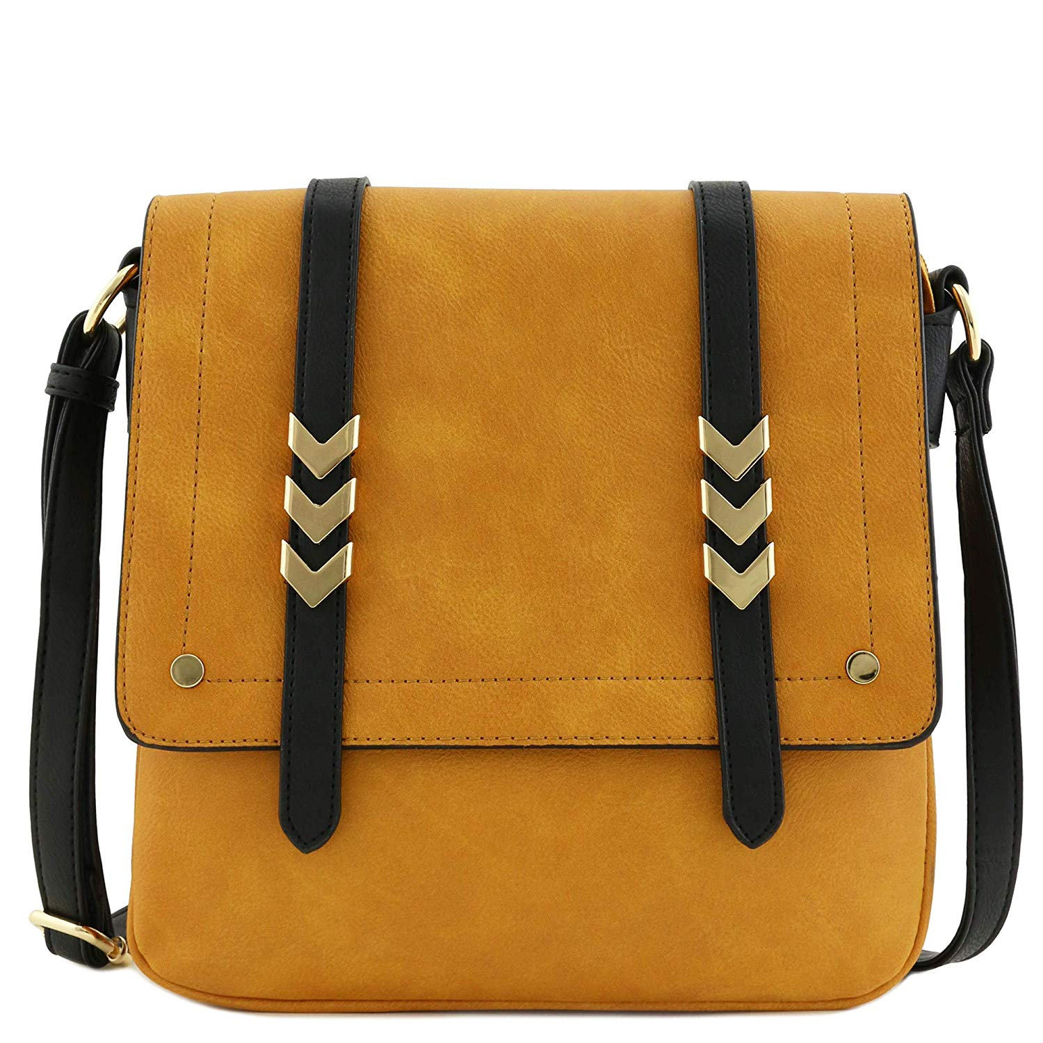Review of Double Compartment Large Flapover Crossbody Bag by Alyssa