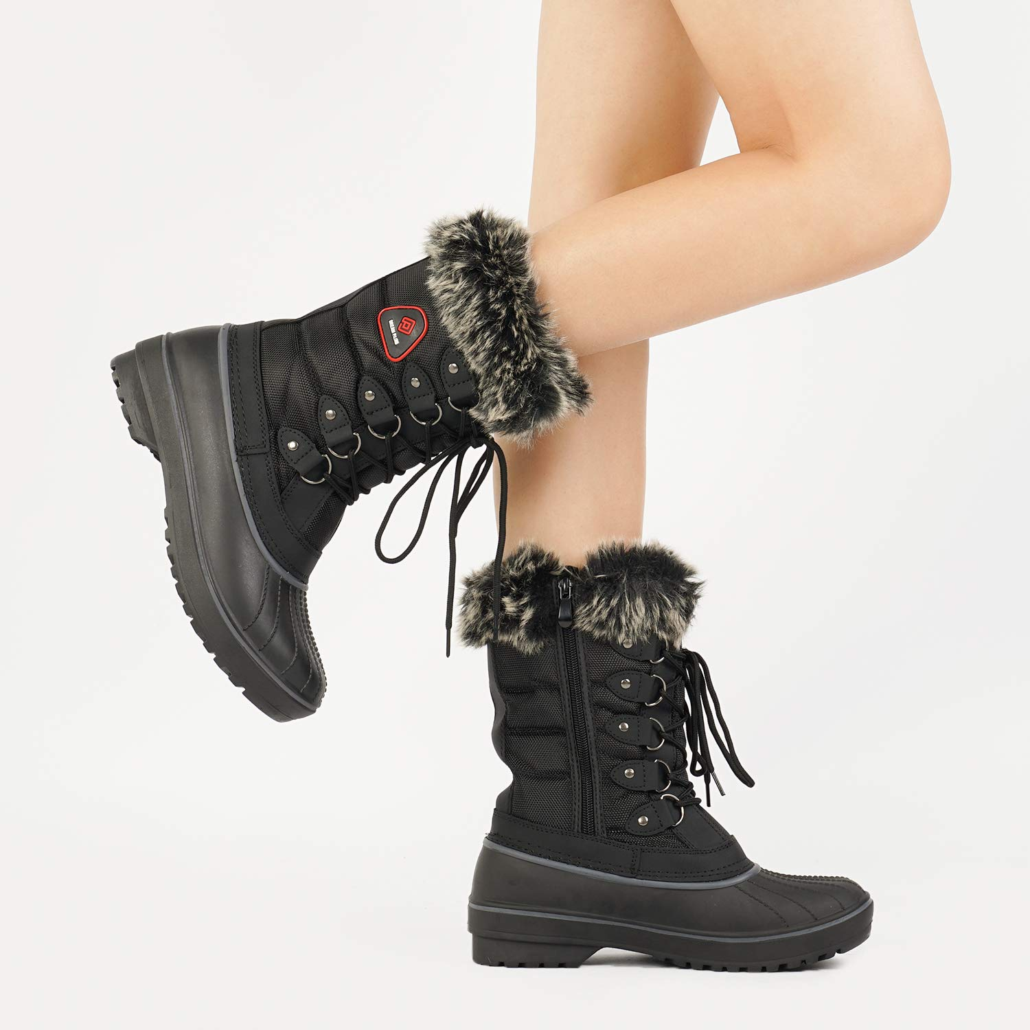 Review of DREAM PAIRS Women's Warm Faux Fur Lined Mid Calf Winter Snow Boots