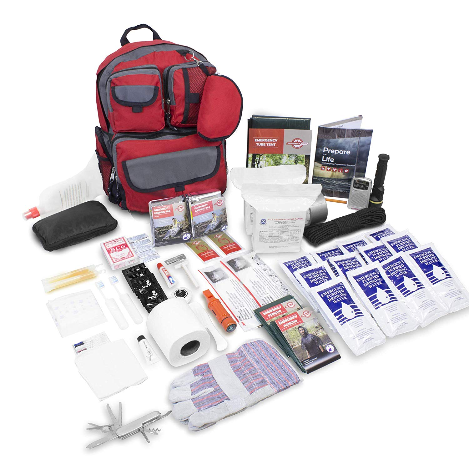 Emergency Zone 2 Person Family Prep 72 Hour Survival Kit/Go-Bag