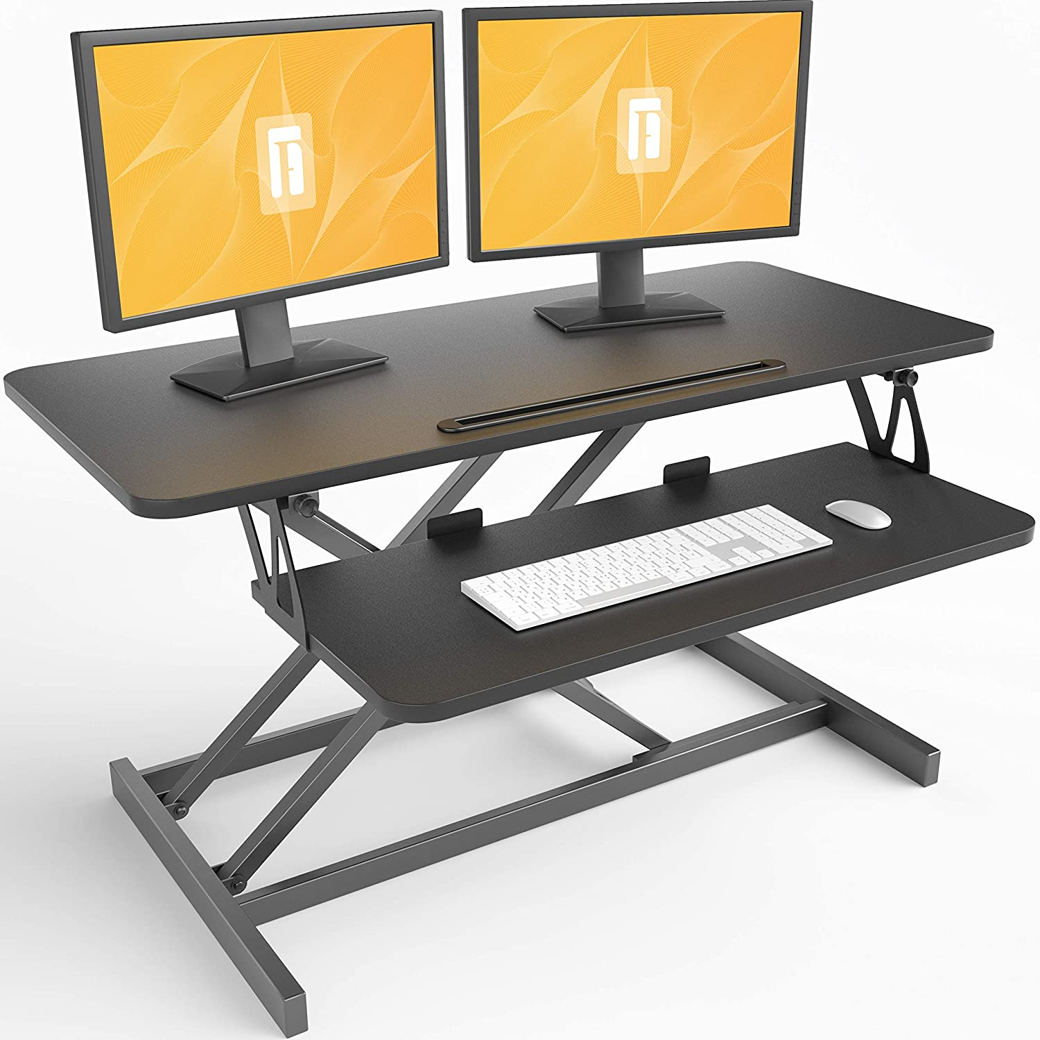 Review of FEZIBO Standing Desk Converter 36 inches Sit Stand Desk Riser