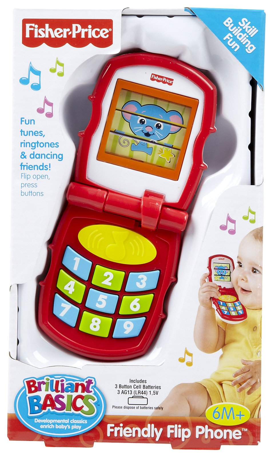 Review of Fisher-Price Brilliant Basics Friendly Flip Phone  ...