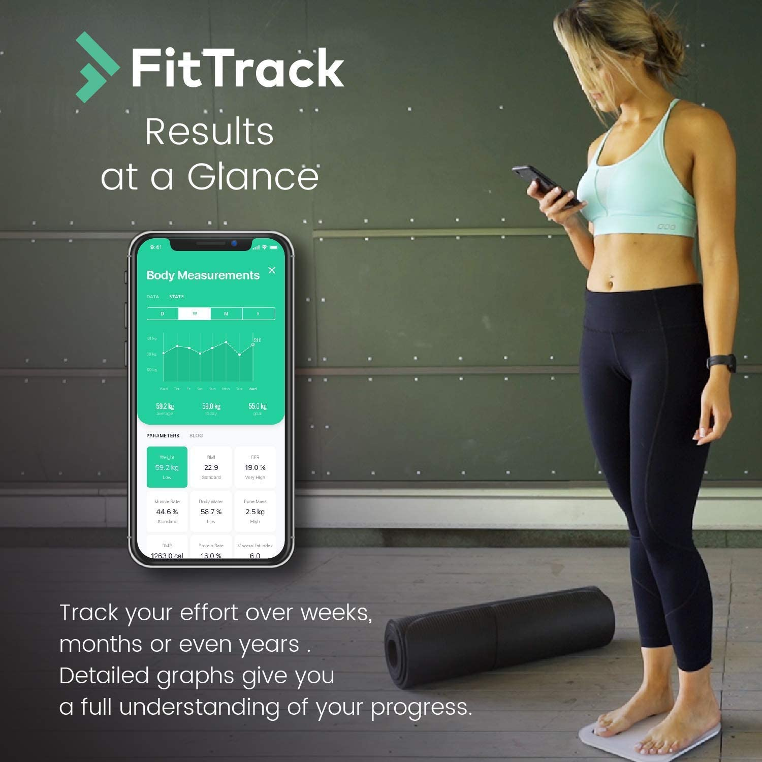 Review of FitTrack Dara Smart BMI Digital Scale - Measure Weight and Body Fat