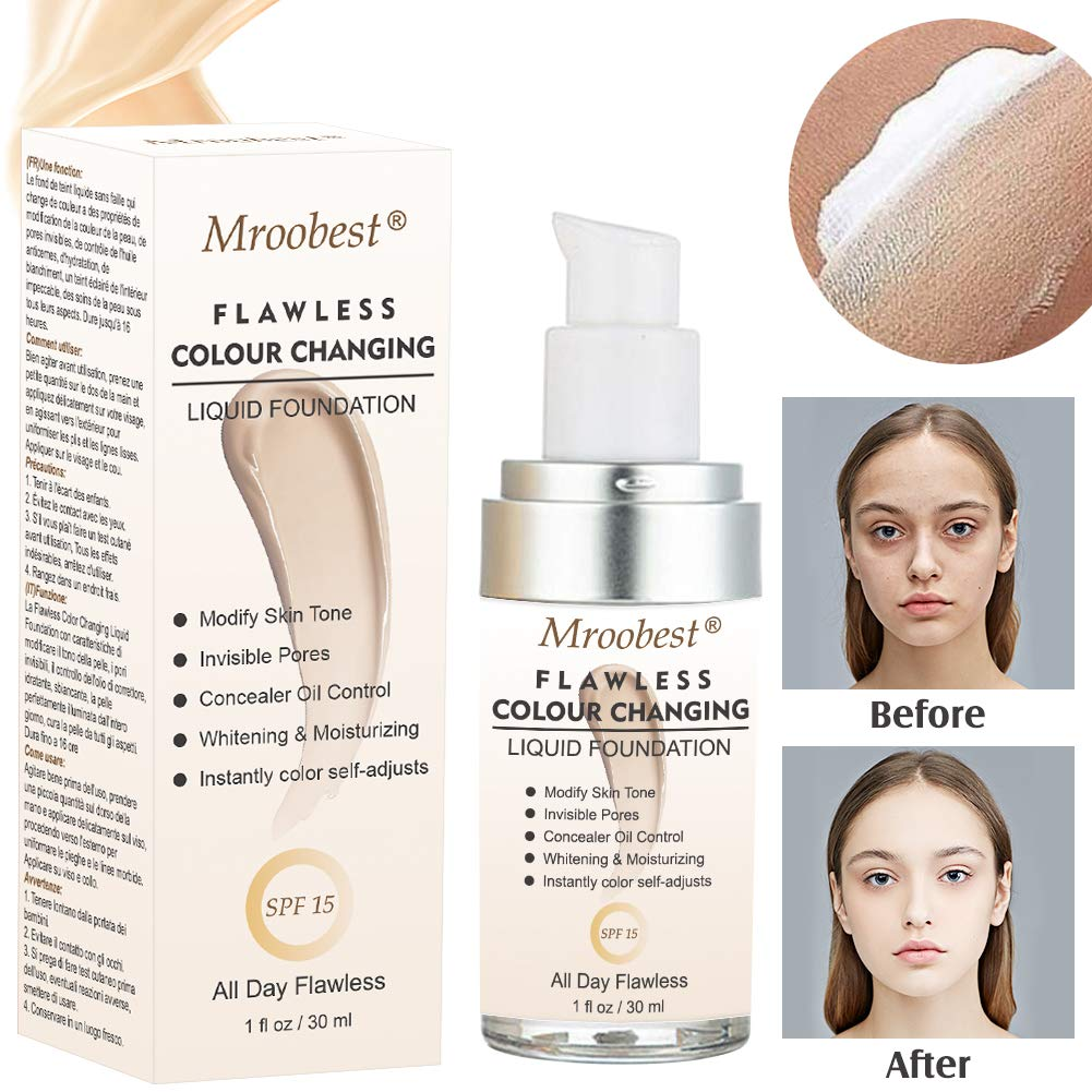 Flawless Finish Foundation, Colour Changing Liquid Foundation, SPF 15,1 Fl Oz by CIDBEST
