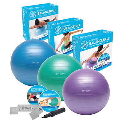 Gaiam Total Body Balance Ball Kit - Reviews of 10 Most Popular Sports Balls and Ball Organizers