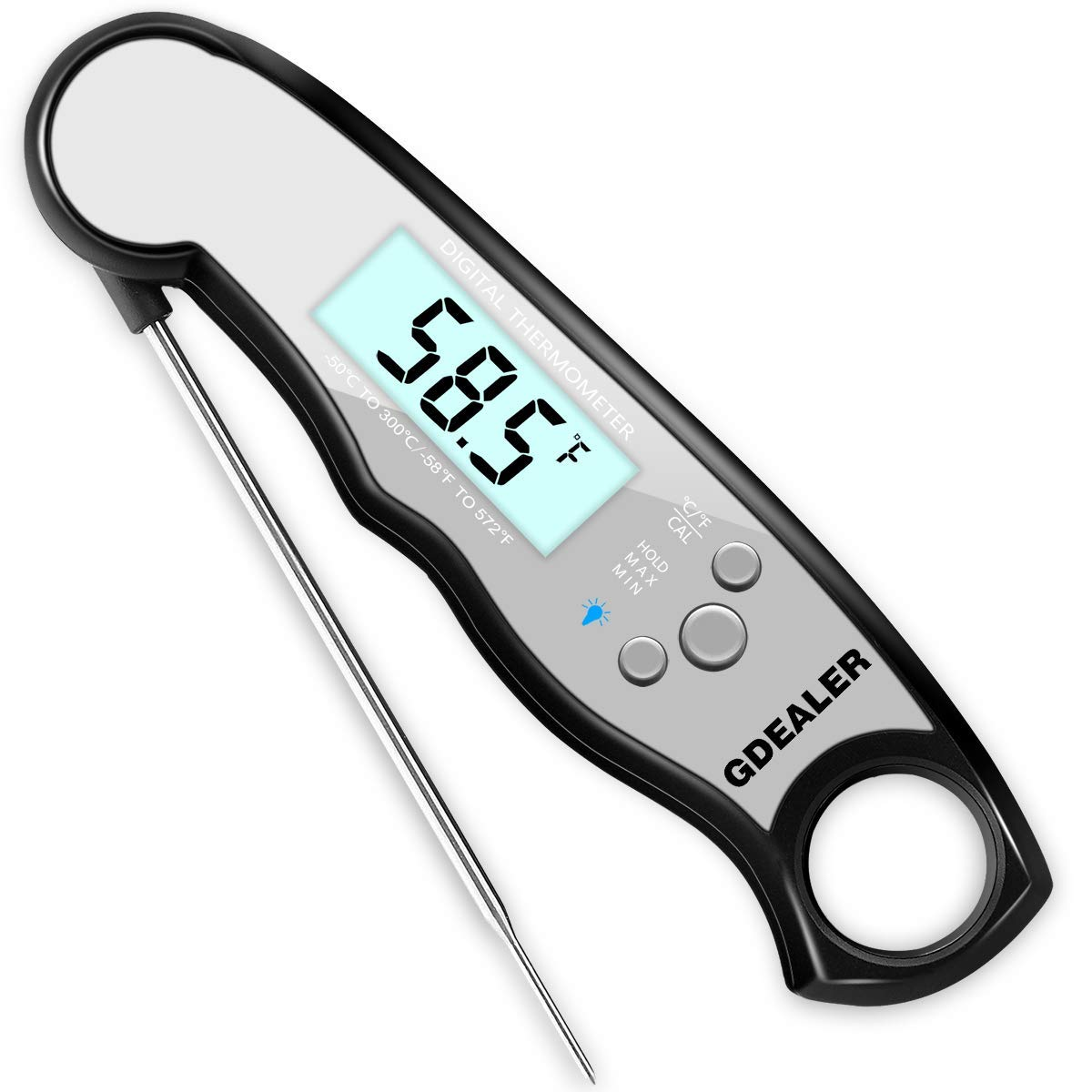 GDEALER Waterproof Meat Digital Thermometer