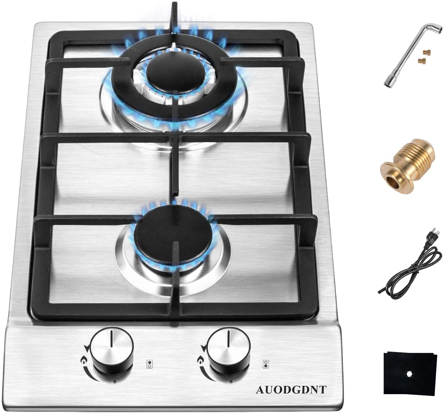 Review of GDNT Gas Stove Gas Cooktop 2 Burners,12 Inches Portable