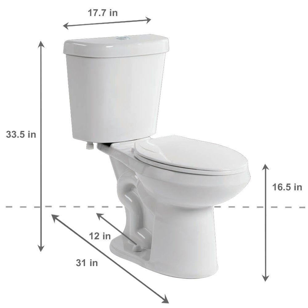 Review of Glacier Bay 2-piece 1.1 GPF/1.6 GPF High Efficiency Dual Flush Complete Elongated Toilet