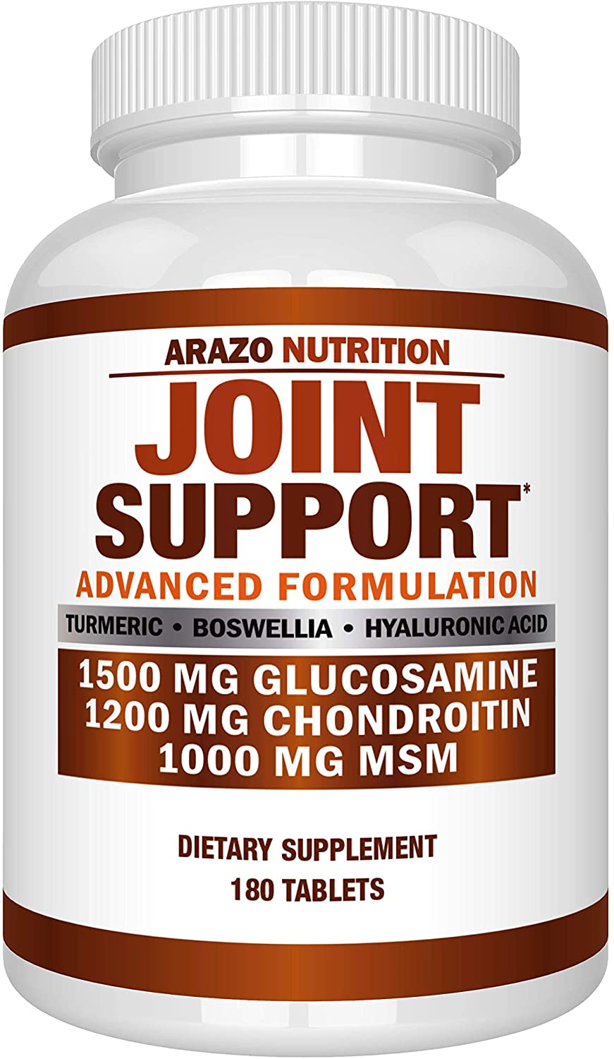 Arazo Nutrition Joint Support Supplement - with Glucosamine, Chondroitin, Turmeric, Msm, Boswellia