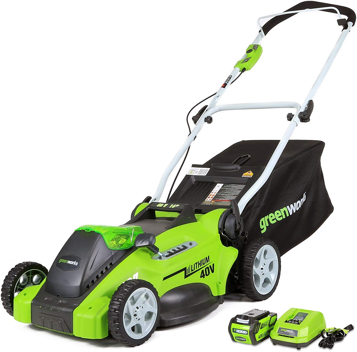 Review of Greenworks G-MAX 40V 16'' Cordless Lawn Mower with 4Ah Battery - 25322 model