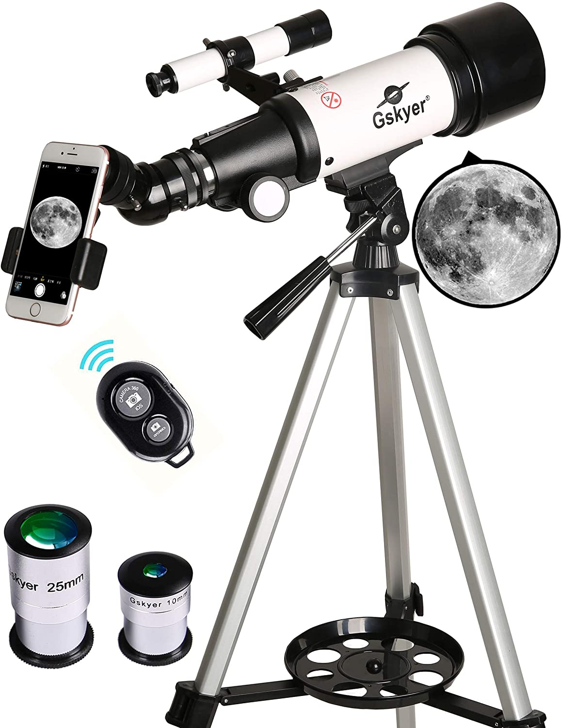Review of - Gskyer Telescope, 70mm Aperture 400mm AZ Mount Astronomical Refracting Telescope