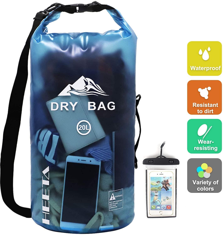 Review of HEETA Waterproof Dry Bag for Women Men, 5L/ 10L/ 20L/ 30L