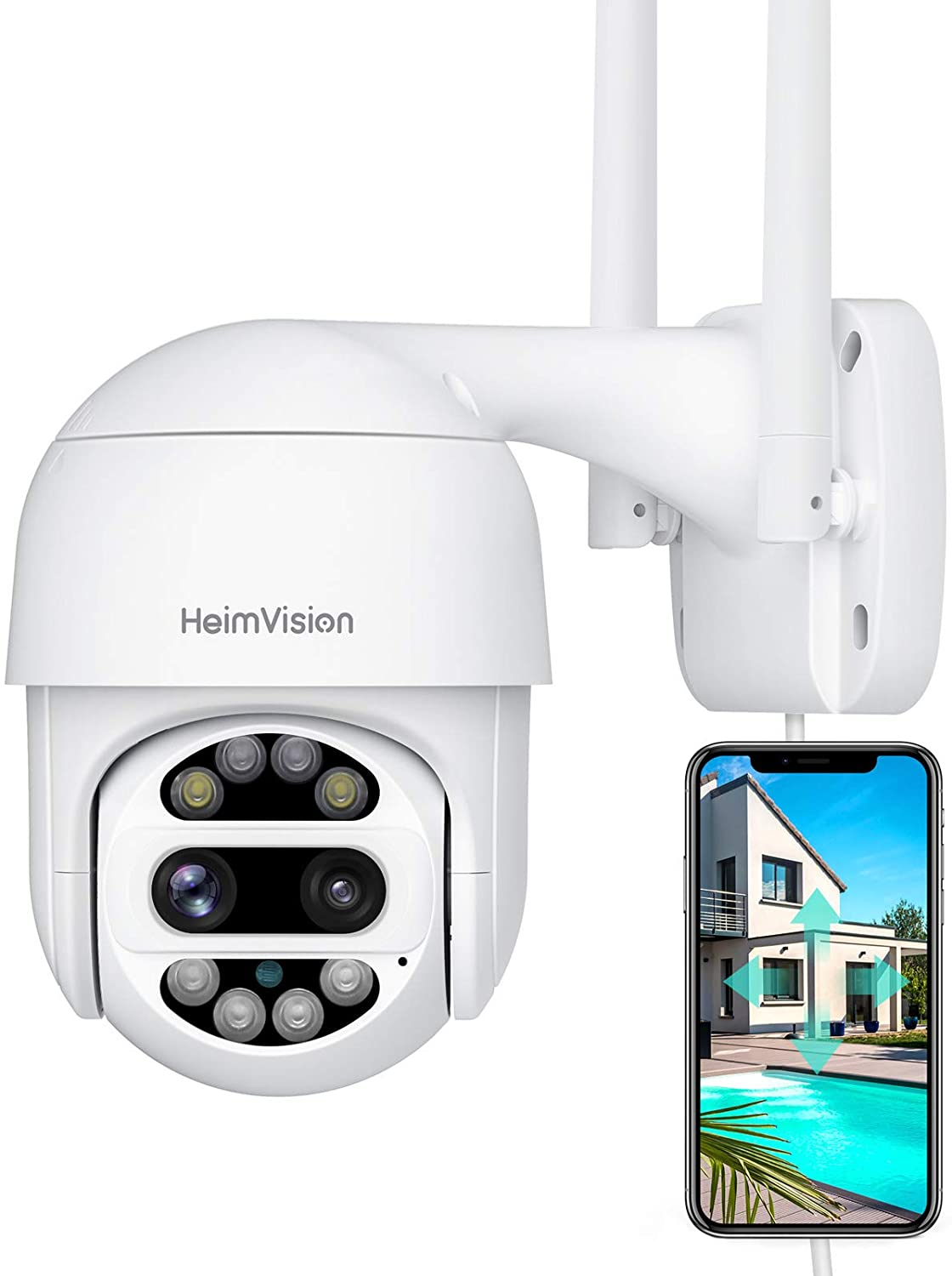 Review of HeimVision PTZ Security Camera Outdoor, 2x2MP Ultra HD Dual Lens