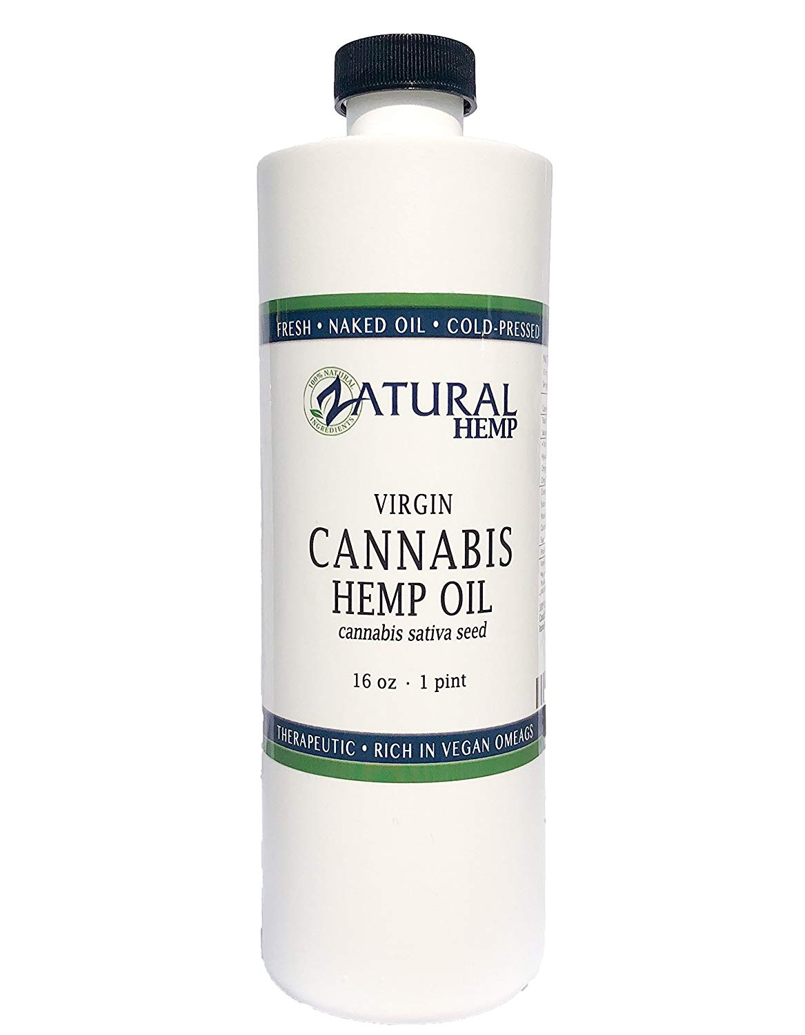 Hemp Oil Virgin, Cold-Pressed 100% Pure , No Fillers or Additives, Therapeutic Grade by NakedOil