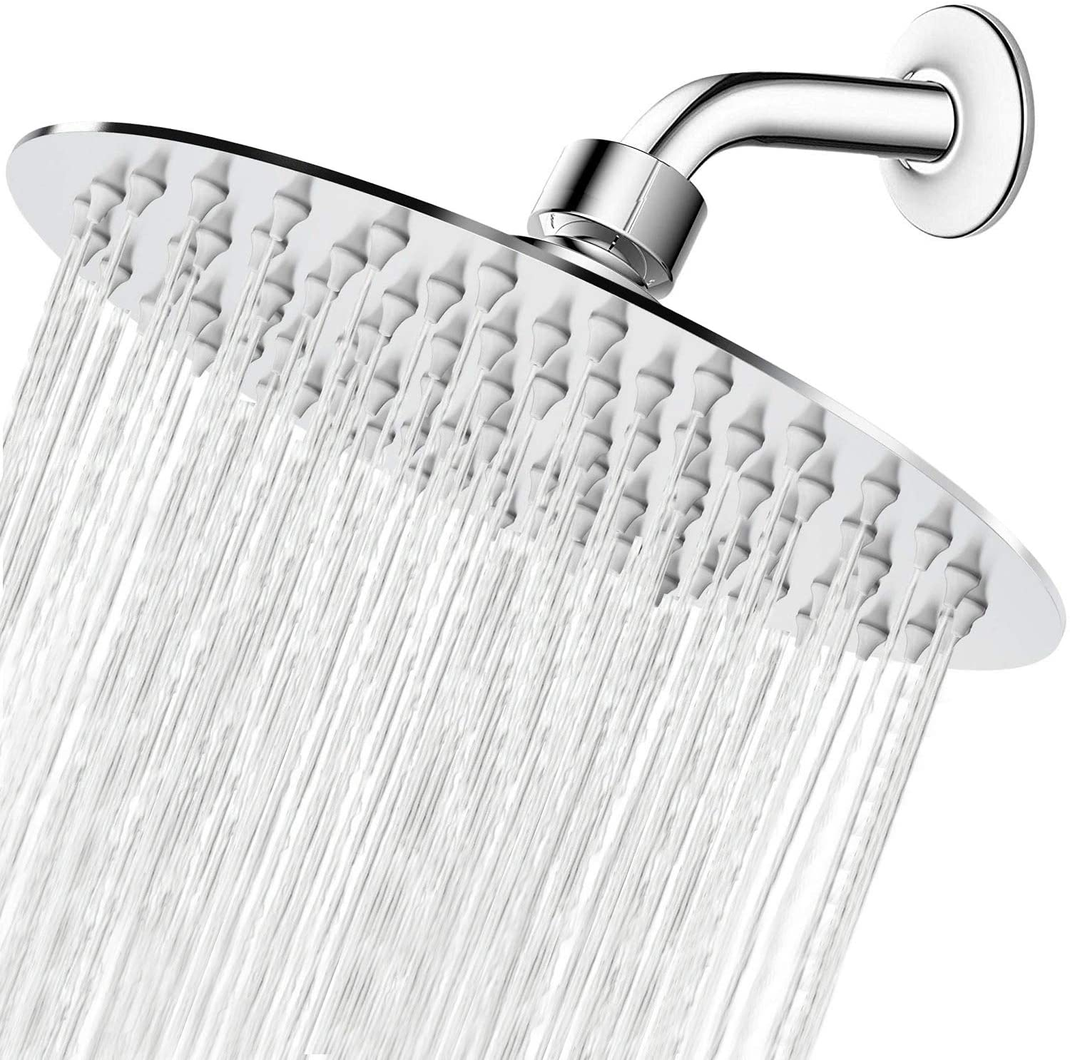 Review of High Pressure Shower Head, 8 Inch Rain Showerhead by NearMoon