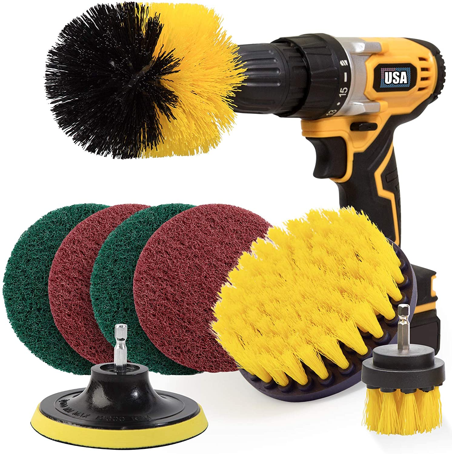 Review of Holikme 8 Piece Drill Brush Power Scrubber