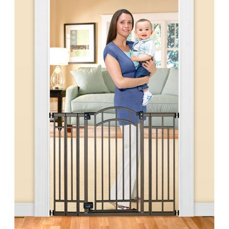 Review of - Home Safe Extra Tall Walk Through Decorative Baby Gate, 28/