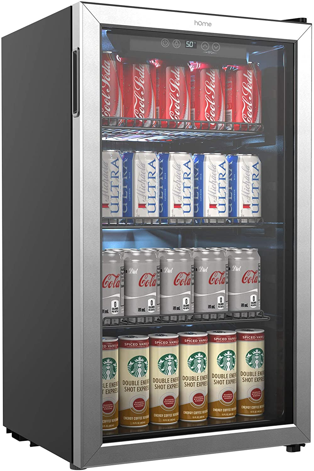 Review of hOmeLabs Beverage Refrigerator and Cooler - 120 Can Mini Fridge