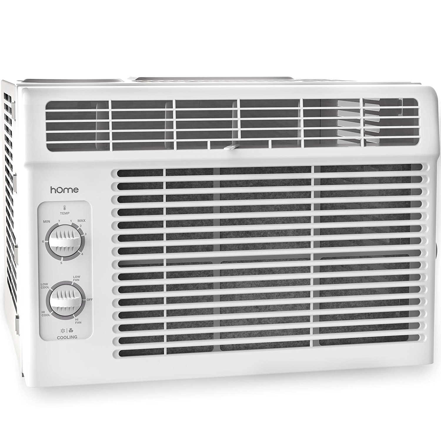 Review of hOmeLabs Cold Window Air Conditioner 5000 BTU - Small Cool AC Unit Kit with 7 Speed Fan Eco Filter Support Bracket Side Panels Covers - Mini Electric White Auto AC Best for RV or Small Hot Room