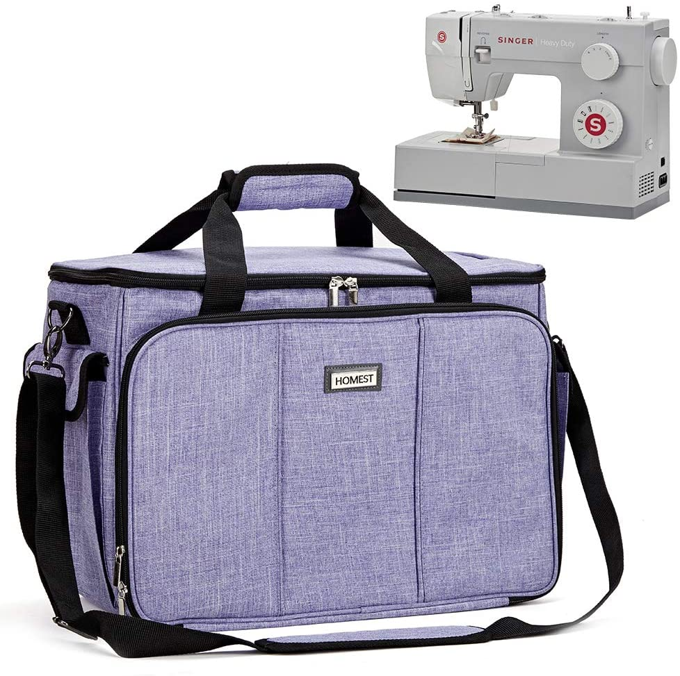 Review of HOMEST Sewing Machine Carrying Case with Multiple Storage Pockets, Universal Tote Bag