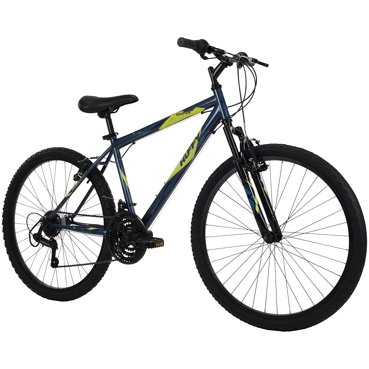 Review of Huffy Hardtail Mountain Bike, Stone Mountain 24 inch 21-Speed, Lightweight, Dark Blue