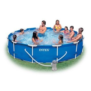 Intex 12-Foot by 30-Inch Family Size Round Metal Frame Pool Set