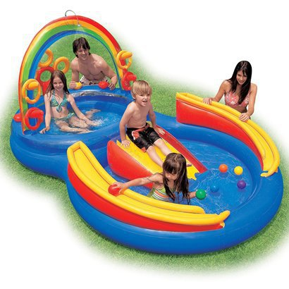 Review of Intex 117-by-76-by-53-Inch Rainbow Ring Pool Play  ...