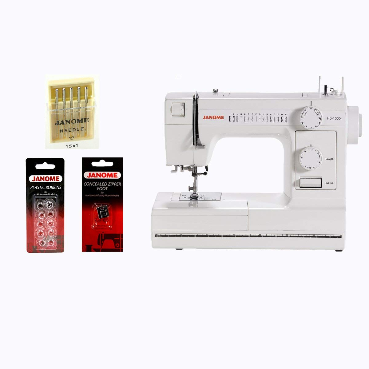 Review of Janome HD1000 Mechanical Sewing Machine with Package