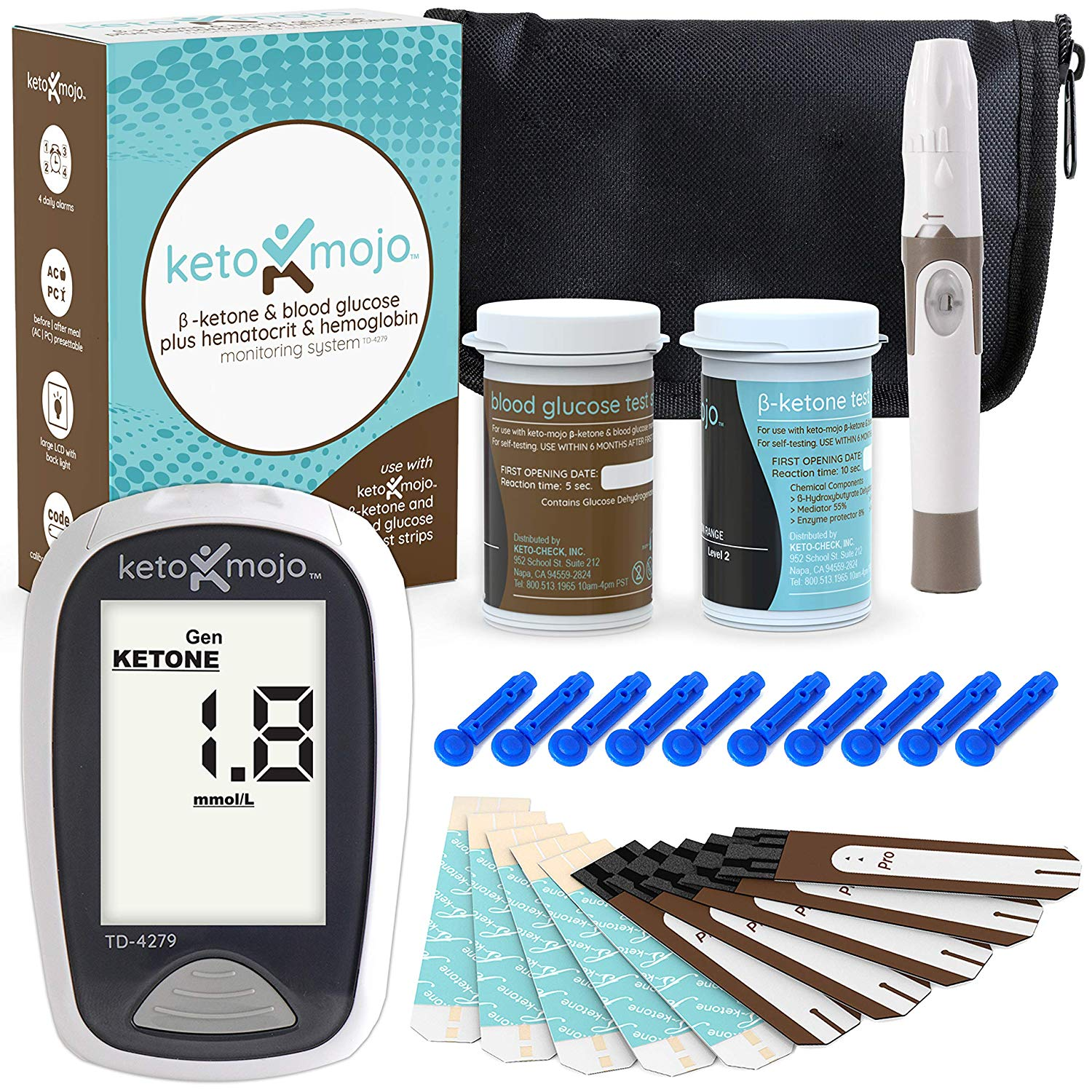 Review of - KETO-MOJO Blood Ketone and Glucose Testing Kit, Monitor Your Ketogenic Diet