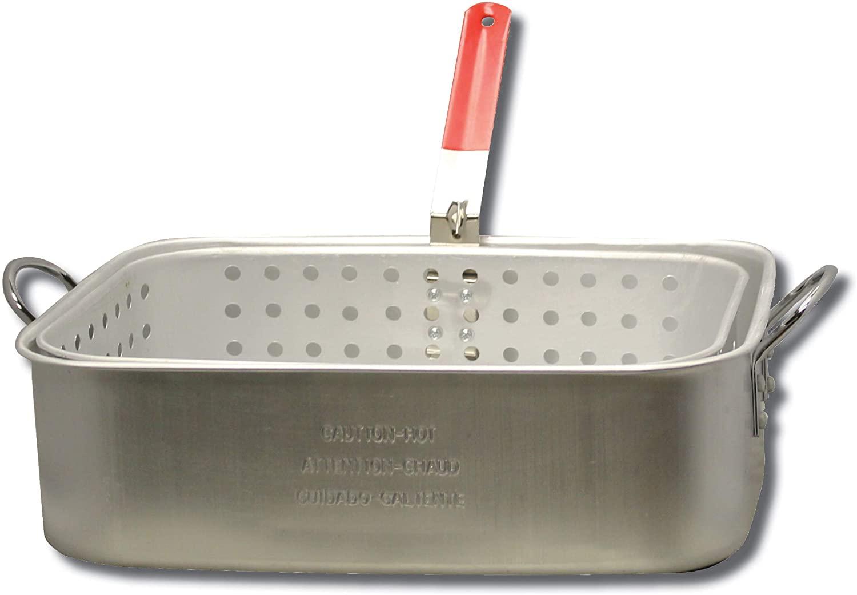 Review of King Kooker KK6 15-Quart Aluminum Rectangular Fry Pan and Basket