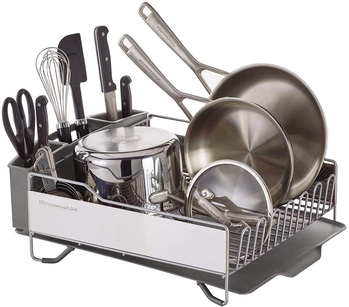 Review of KitchenAid Full Size Dish Rack, Light Grey