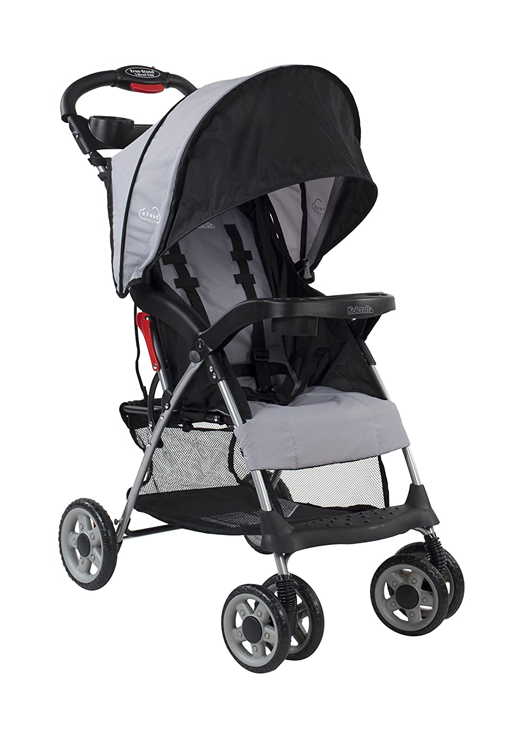 Review of Kolcraft Cloud Plus Lightweight Easy Fold Compact Travel Baby Stroller, Slate Grey