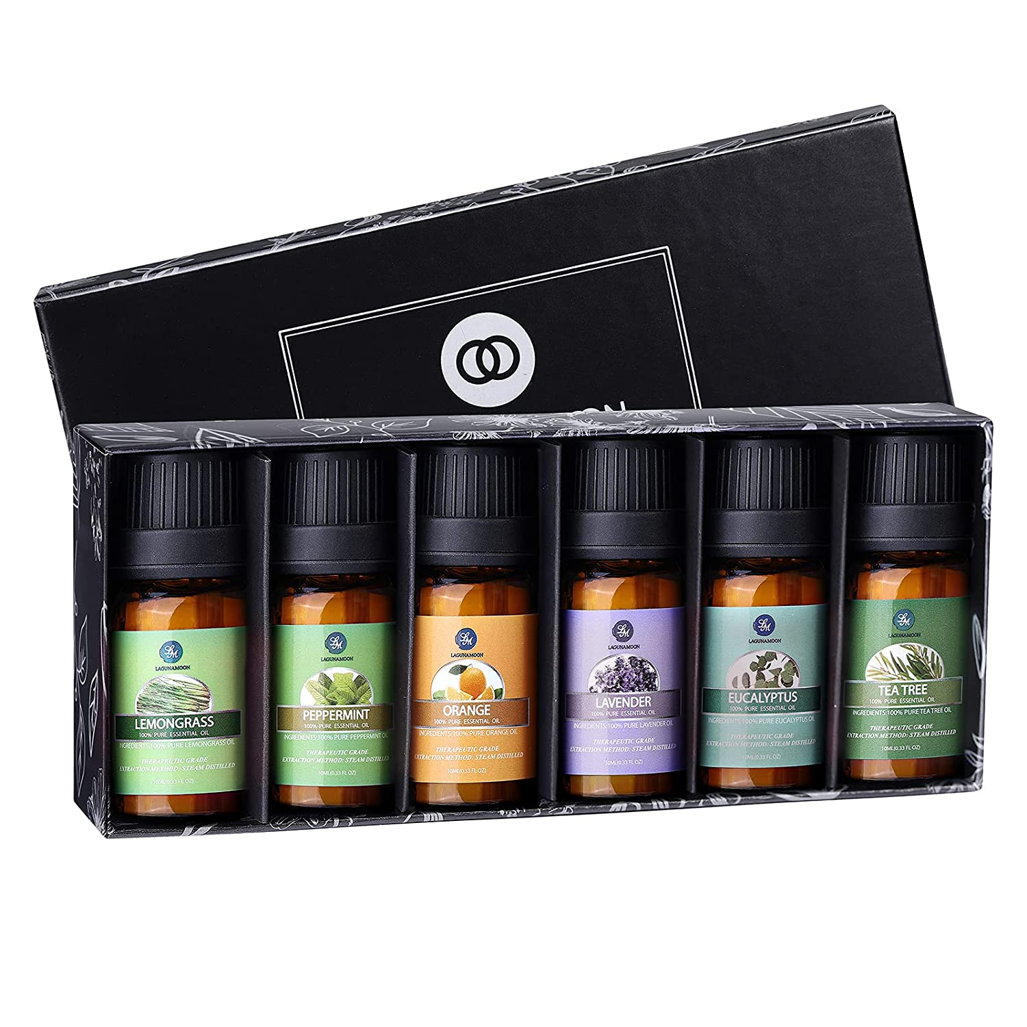 Review of Lagunamoon Essential Oils Gift Set with Top 6 Pure Essential Oils